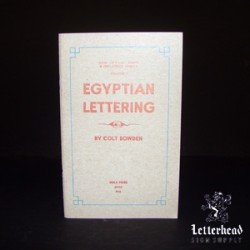 Egyptian Lettering Styles-Book