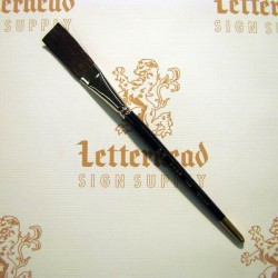 "Flat Lettering Brush ""Soft Stroke"" Brown series-1992 size 3/4"""