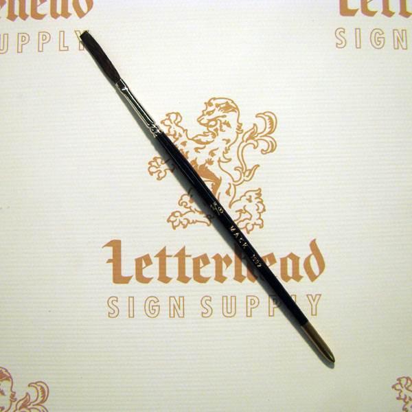 "Flat Lettering Brush ""Soft Stroke"" Brown series-1992 size 1/8"""