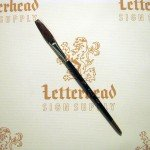 "Flat Lettering Brush ""Soft Stroke"" Brown series-1992 size 3/8"""