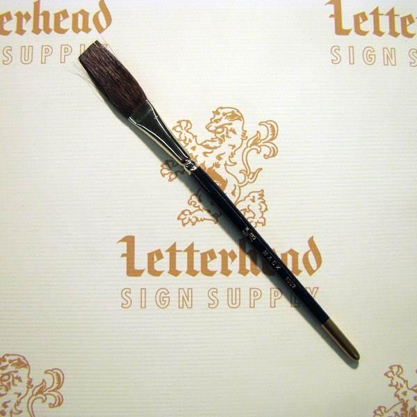 "Flat Lettering Brush ""Soft Stroke"" Brown series-1992 size 5/8"""