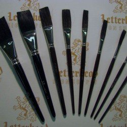 mack brush flat lettering brushes jet stroke series-1962 full set