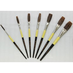 Flat Lettering Brushes Grey Stroke series 1932 by Mack Brush