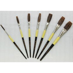 mack brush flat lettering brush grey stroke series-1932 full set