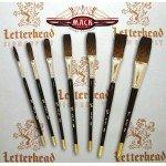 mack brush flat lettering brush soft stroke brown series-1992 full set