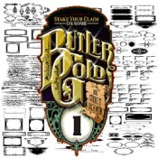 Butler Gold Clipart Volume 1