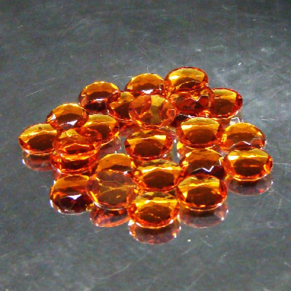 Amber Crystal Sign Jewels 15mm
