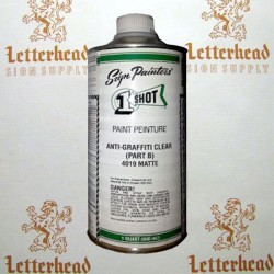 1 shot anti graffiti clear part b 4020 pint