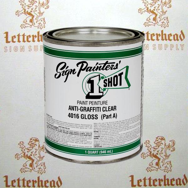 1 shot anti-graffiti lettering clear gloss part a 4016 quart