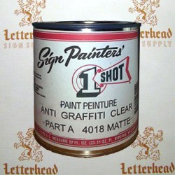 1 shot lettering anti graffiti clear matte part a 4018 quart