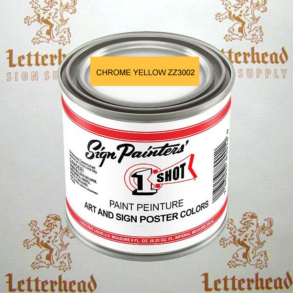 1 Shot art poster colors chrome yellow ZZ3002 quart