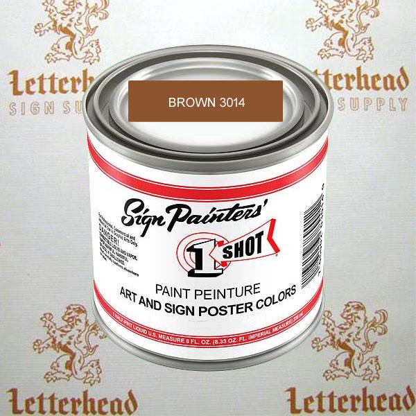 1 shot art poster colors paint brown ZZ3014  quart