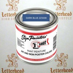1 shot art poster colors paint dark blue ZZ3008 quart