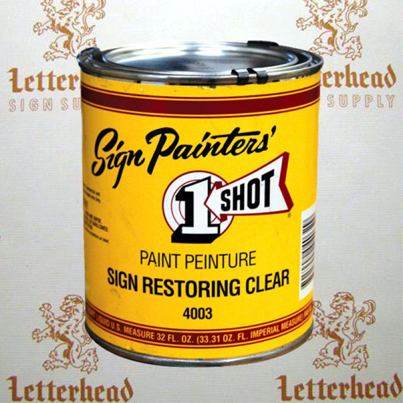 1 shot lettering enamel sign restoring clear gloss 4003 quart publicscrutiny Image collections