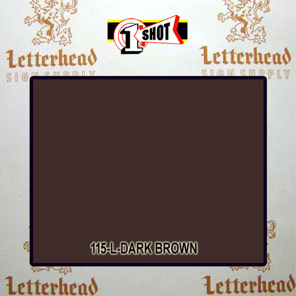 1 Shot Lettering Enamel Paint Dark Brown 115L - 1/2 Pint