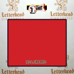 1 Shot Lettering Enamel Paint Fire Red 102L - Pint