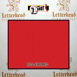1 Shot Lettering Enamel Paint Fire Red 102L - 1/2 Pint