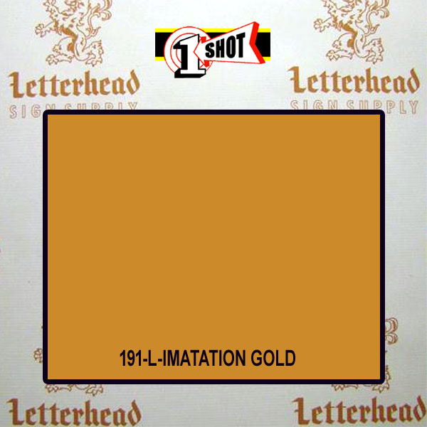 1 Shot Lettering Enamel Paint Imitation Gold 191L - 1/2 Pint