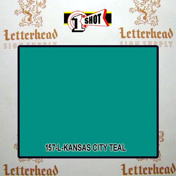 1 Shot Lettering Enamel Paint Kansas City Teal 157L - 1/2 Pint