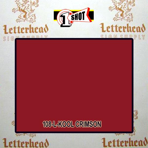 1 Shot Lettering Enamel Paint Kool Crimson 106L - 1/4 Pint