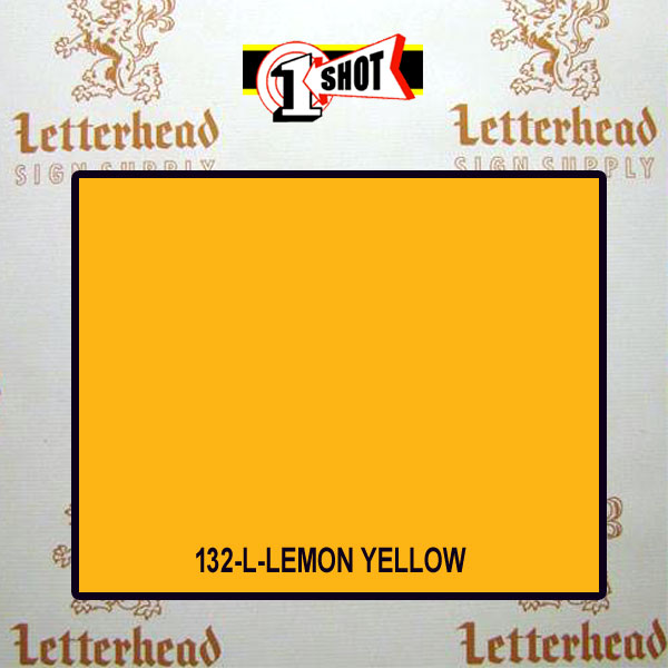 1 Shot Lettering Enamel Paint Lemon Yellow 132L - 1/2 Pint