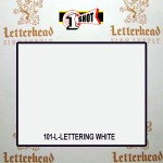 1 Shot Lettering Enamel Paint White 101L-Quart