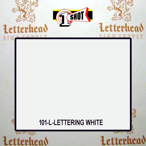 1 Shot Lettering Enamel Paint Lettering White 101-1/4 Pint
