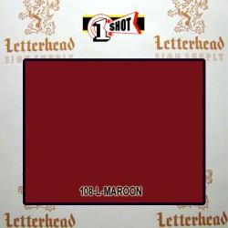 1 Shot Lettering Enamel Paint Maroon 108L- 1/2 Pint