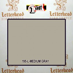 1 Shot Lettering Enamel Paint Medium Gray 195L - 1/2 Pint