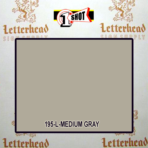 1 Shot Lettering Enamel Paint Medium Gray 195L - 1/2 Pint