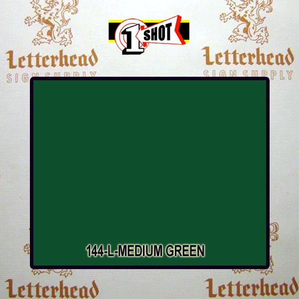 1 Shot Lettering Enamel Paint Medium Green 144L - 1/2 Pint