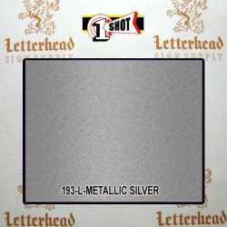 1 Shot Lettering Enamel Paint Metallic Silver 193L - 1/2 Pint