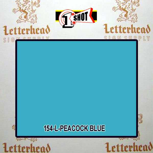 1 Shot Lettering Enamel Paint Peacock Blue 154L - 1/2 Pint