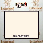 1 Shot Lettering Enamel Paint Polar White 103L - Quart