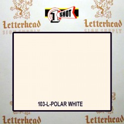 1 Shot Lettering Enamel Paint Polar White 103L - 1/4 Pint