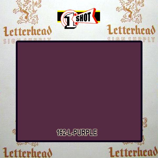 1 Shot Lettering Enamel Paint Purple 162L - 1/2 Pint