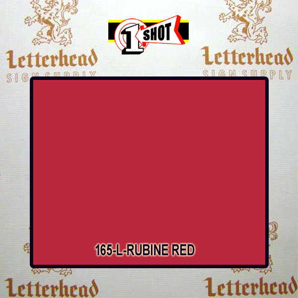 1 Shot Lettering Enamel Paint Rubine Red 165L- 1/2 Pint