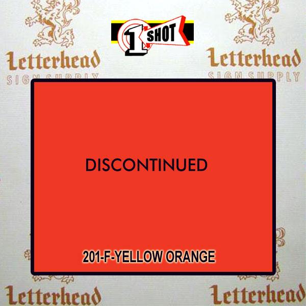 1 Shot Lettering Enamel Paint Yellow Orange 201F - Quart