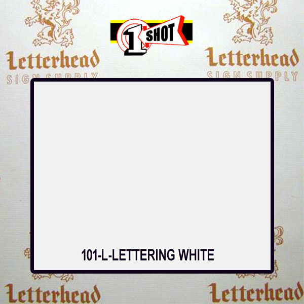 1 Shot Lettering Enamel Paint Lettering White 101-1/2 Pint