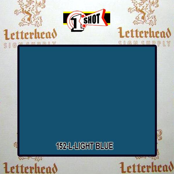 1 Shot Lettering Enamel Paint Light Blue 152L - 1/2 Pint