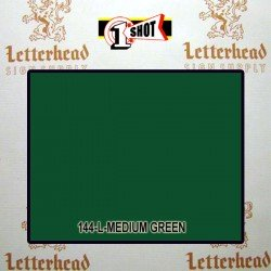 1 Shot Lettering Enamel Paint Medium Green 144L - 1/2 Pint