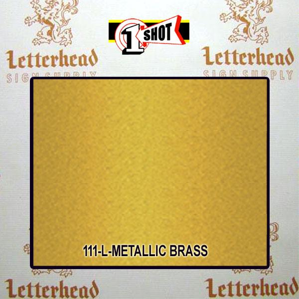 1 Shot Lettering Enamel Paint Metallic Brass 111L - 1/2 Pint