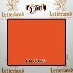 1 Shot Lettering Enamel Paint Orange 124L - Pint