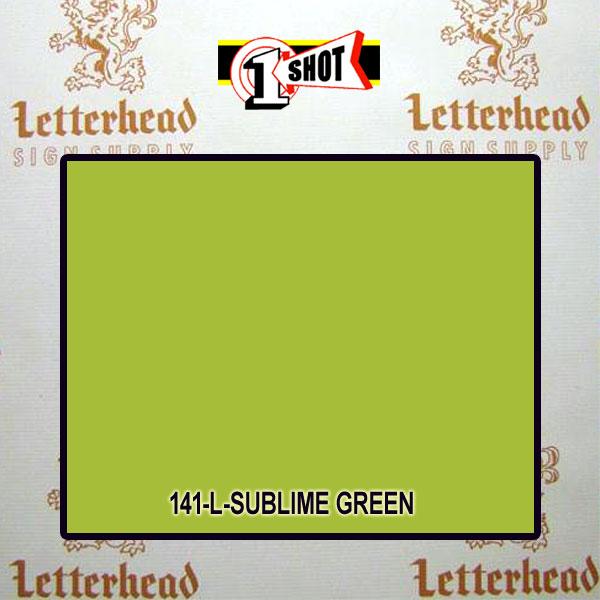 1 Shot Lettering Enamel Paint Sublime Green 141L - 1/2 Pint