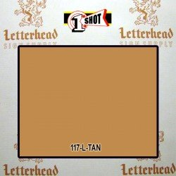 1 Shot Lettering Enamel Paint Tan 117L - 1/2 Pint