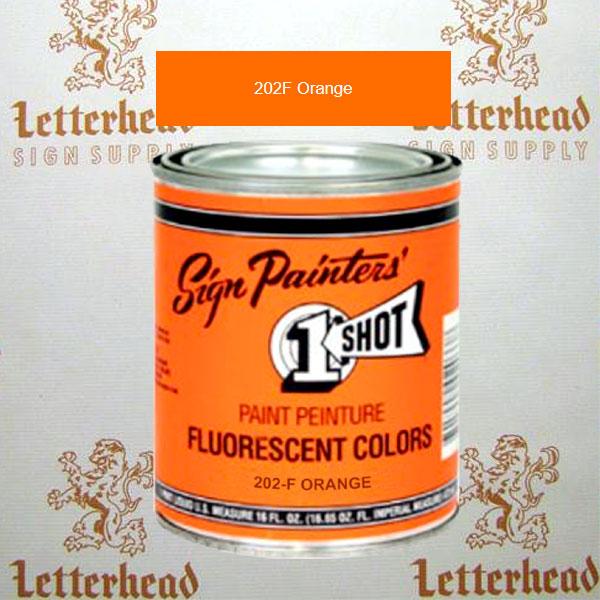 1 Shot Lettering Enamel Paint Orange 202F - Quart