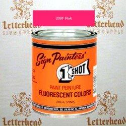 1 Shot Lettering Enamel Paint Pink 206F - Quart