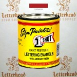 1 Shot Lettering Enamel Paint Bright Red 104L - Quart