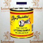 1 Shot Lettering Enamel Paint Brilliant Blue 156L - Pint