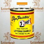 1 Shot Lettering Enamel Paint Chrome Yellow 134L - Quart